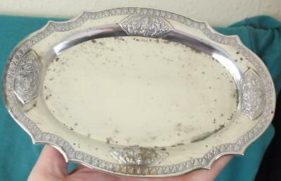 112g Fine Thai Nakon Solid Sterling Silver Embossed Tray / Dish