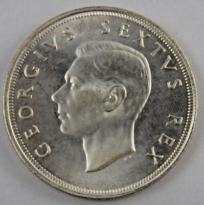 1951 South Africa 5 Shillings Silver Coin Uncirculated