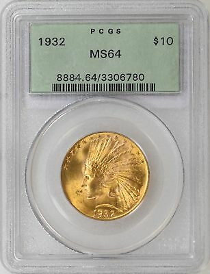 1932 PCGS MS64 OGH $10 INDIAN GOLD EAGLE Beautiful Luster & Color - I-12273