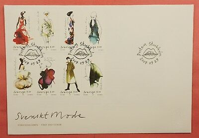 2007 Fdc Sweden Fashion Strips Of 4