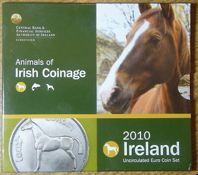 Ireland Official   Euro Coin Set Unc. 2010. Animals Of Irish Coinage.