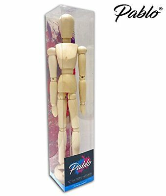 "® - Premium 12"" inch Wooden Artists  Manikin / Mannequin Unvarnished"