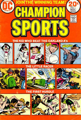 CHAMPION SPORTS #1 VG/F, Baseball, Racing, Track, Writing B/C, DC Comics 1973