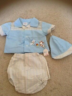 Vintage Baby Boy 3 Piece Outfit Size 3-6 Months