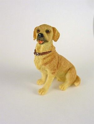 Dollhouse Miniature Golden Yellow Lab Dog Sitting, A3485GD