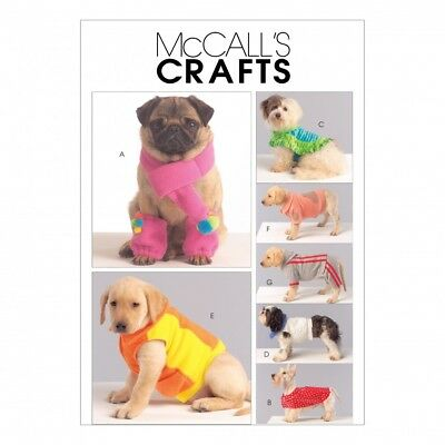 MCCALL\'S 5776 SEWING Pattern to MAKE Dog Coats Jackets Leg Warmers ...