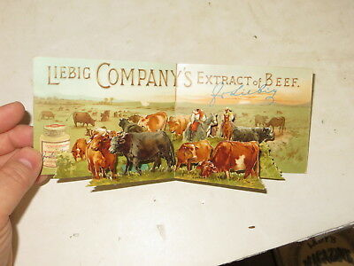 % Victorian Embossed Die Cut Paper Scrap Liebig Company's Extract Pop Up Card %