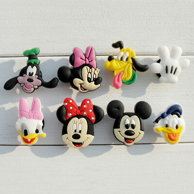 20pcs Lot Mickey Minnie Duck PVC Shoes Charms fit for Croc & Jibbitz Wristbands