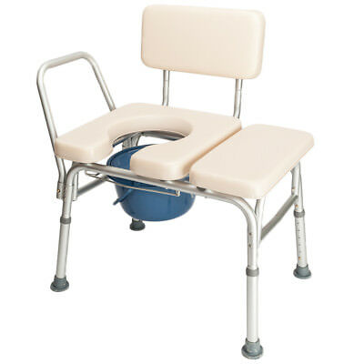 Commode Chair for Toilet Adult Disabled Bedside Wheelchair Seat