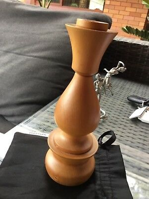 Vintage turned Huon pine candle stick holder collectable 19cm tall collectable