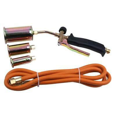 Portable Propane Weed Torch Burner Fire Starter Ice Melter Melting w/ 3 Nozzles