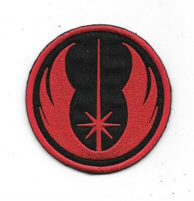 Star Wars Jedi Knight Star Fighter Red Insignia on Black Embroidered Patch NEW