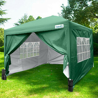 Quictent Green 3x3M Pop Up Gazebo Waterproof Canopy Party Tent Carport With Bag