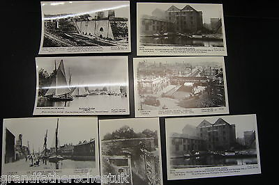 Set Of Rare Pamlin Postcard Prints Canal Barges Inland Waterways Boats Warehouse