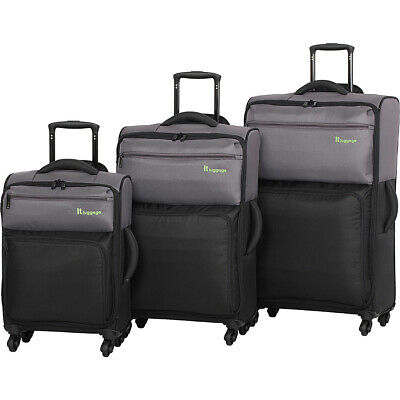 it luggage DuoTone 4 Wheel 3 Piece Set 13 Colors Luggage Set NEW