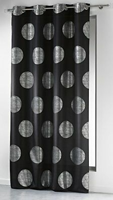 Douceur D intérieur- 1604473, Curtain With Eyelets ,, Platine , Silver Printed