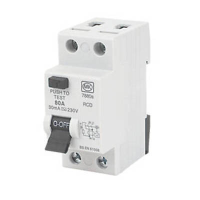 MK 7880S Sentry 2 Module Double Pole Residual Current Device RCD 80A - 30mA 230V