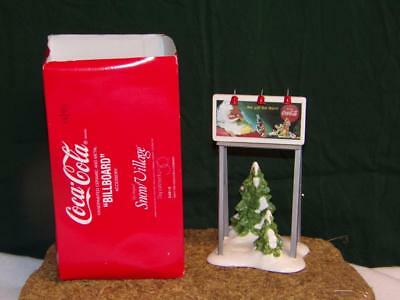 Dept 56 Snow Village Collection Coca Cola Billboard Accessory - Coke 5481-0