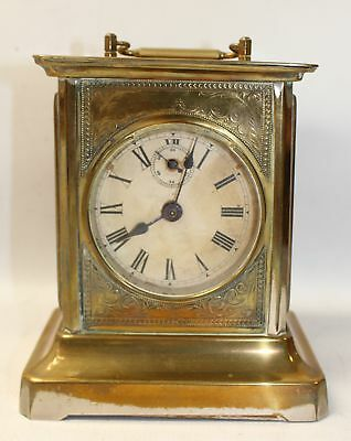 Antique / Vintage BRASS MANTLE CARRIAGE CLOCK Spares & Repair    - M32