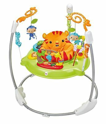 Fisher-Price Roaring Rainforest Jumperoo Baby Music Seat Lights Sounds Bouncer