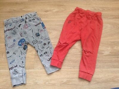 Zara Boys Leggings 18-24 Months, 2 Pairs, Red, Grey