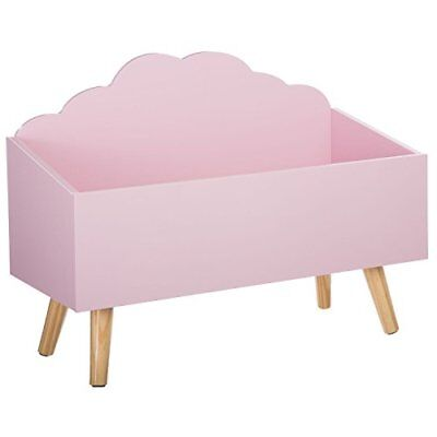 Toy Box Storage Chest - Cloud Shape - Colour Pink By Atmosphera