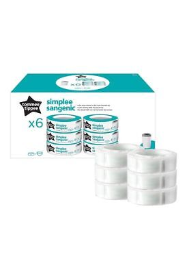 Tommee Tippee Simplee Sangenic Cassettes (Pack of 6)