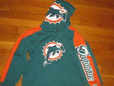 Nfl Team Apparel Miami Dolphins Football Hoodie Boys Small 8 Excellent