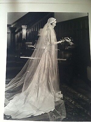 Vintage Antique 1930's Wedding Gown with original Photograph Photo