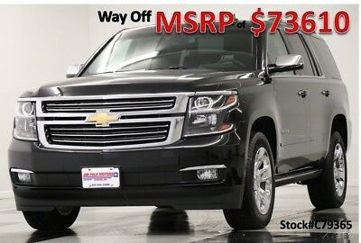 Chevrolet Tahoe MSRP$73610 4X4 Premier DVD GPS Sunroof Black 4WD New Navigation Player Heated Cooled Captains Chairs 7 Passenger Luxury SUV