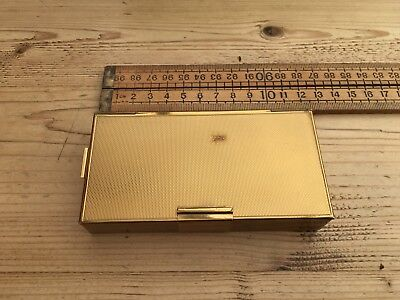 A Vintage Compact, Cigarette Case And Lipstick Holder, No Holder