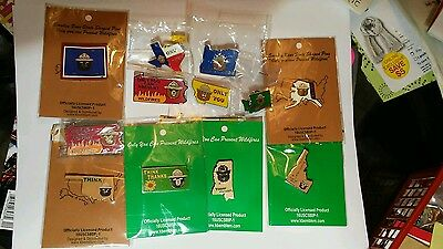 """50 SMOKEY BEAR STATE PINS. A PIN FOR EVERY STATE. GREAT GIFT. 1"""" x 1 1/4"""""""