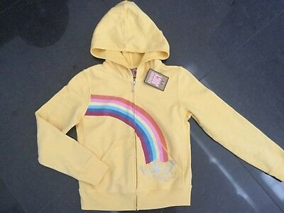 NWT Juicy Couture New & Gen. Girls Age 8 Yellow Cotton Tracksuit Hoody & Logo