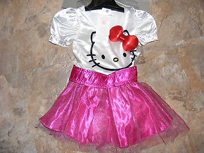 Hello Kitty Pink White Girls 2T - 4T Fancy Costume Dress Up Play Outfit~$30 Msrp