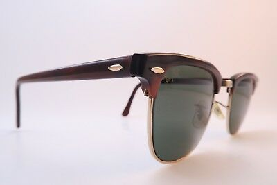 Vintage B&L Ray Ban Clubmaster sunglasses Mod W0366 USA etched BL glass lens