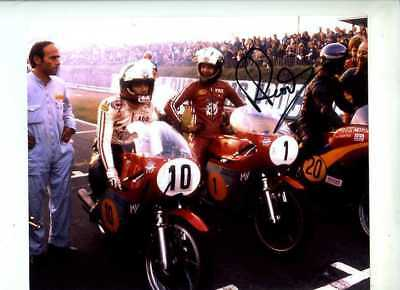 Giacomo Agostini & Phil Read MV Agusta 1974 Signed Photograph