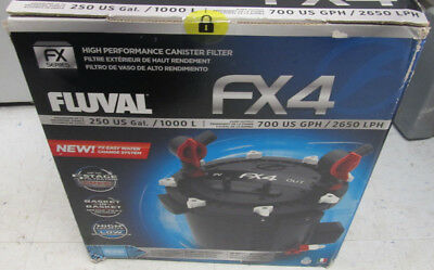 New Fluval Fx4 High-Performance Canister Filter 250 Gallon 5 Stage Filtration