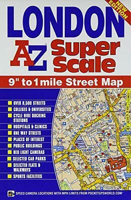 Super Scale Map of London (A-Z Street Atlas) by    Paperback Book   978178257039