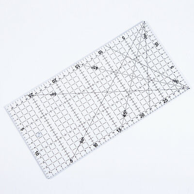 Transparent Square Ruler Accurate Scale Lines for Garment Making Acrylic Tool
