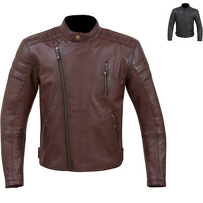 Merlin Lichfield Leather Motorcycle Jacket Armour Protection Bike GhostBikes