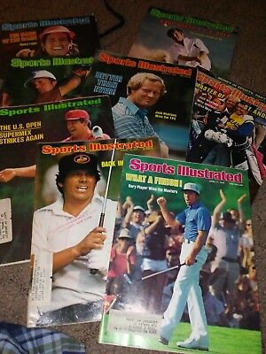 Vintage Sports Illustrated Golf -Lot of 8 Nicklaus Trevino Player  1970`s