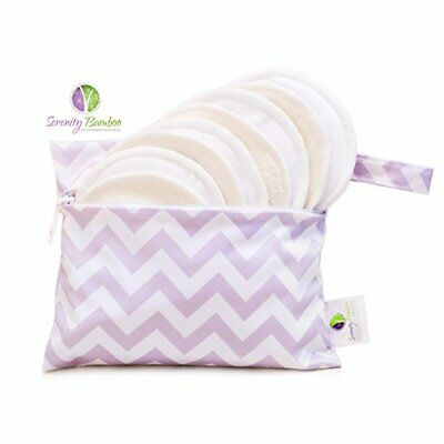 Washable Organic Bamboo Daytime Nursing Pads 8 Pack 4 Pair Small Size With Laund