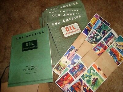 1943 Coca Cola Our America  OIL  classroom kit with 4 posters 30 students