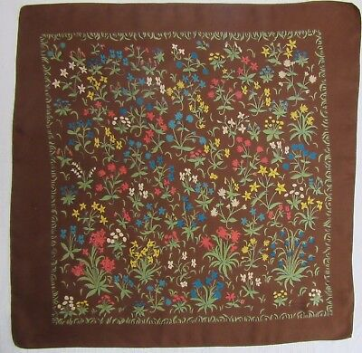 LIBERTY of LONDON colourful Floral vintage silk scarf 57 x 57 cm VGood condition