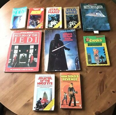 Vintage Star Wars paperback Books Job Lot X 10