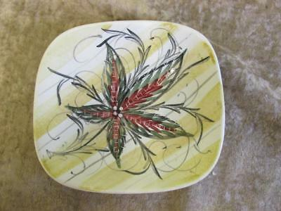 "Stunning 5.5""x 5"" Bourne Denby Signed Glyn Colledge Square Pin Tray /Dish"