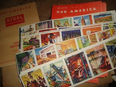 1943 Coca Cola Our America  STEEL  classroom kit with 4 posters 30 pupils