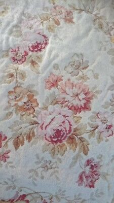 BEAUTIFUL ANTIQUE FRENCH TAPESTRY PANEL UNUSED c1890 CHAIR SEAT OR CUSHION