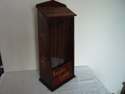 Antique Advertising Chemist Shop Hotel Display Cabinet Knight`s Castile Prop