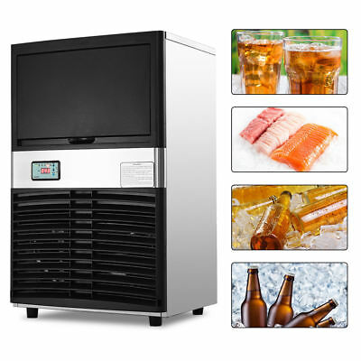 Heavy Duty 100lbs / Day Commercial Automatic Stainless Steel Ice Maker Machine